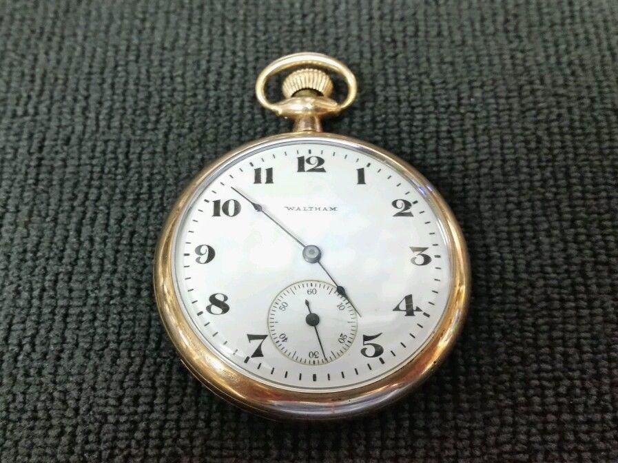 1917 waltham gold filled pocket